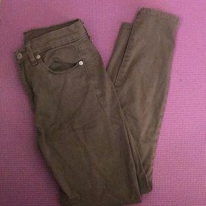 Light brown neutral color skinny jeans gap